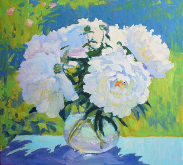 White Peonies artwork