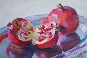 Still Life with Pomegranates original art