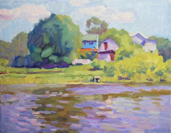 original oil painting landscape impressionist