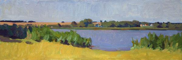 Original landscape oil painting impressionist colorist art