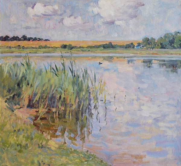 Original oil painting impressionist landscape