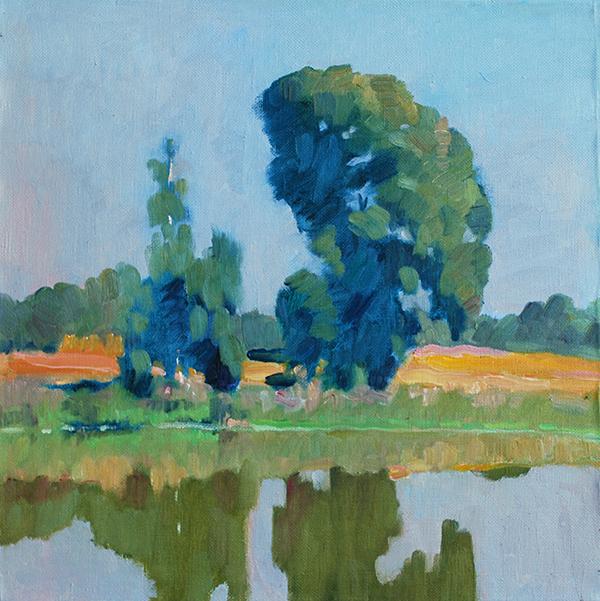 original oil painting landscape trees
