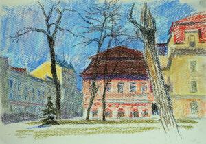 kyiv kiev pastel artwork
